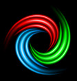 abstract swirl sign on black background