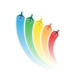 Airplanes with rainbow vector image vector image