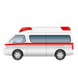 ambulance isolated on a white background vector image