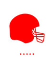 american football helmet it is icon vector image vector image
