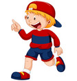an urban boy character vector image