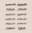 authentic vintage hand lettering typography vector image vector image