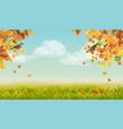 autumn landscape vector image vector image