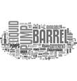 barrel pumps text word cloud concept vector image vector image
