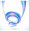 Blue abstract futuristic spiral background vector image vector image