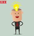 Business man thinking - - EPS10 vector image