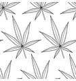 Cannabis leaf contour pattern