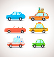Car Flat Icon Set 1 vector image