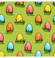 cartoon seamless Easter egg background vector image vector image