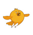 character cartoon chicken flying vector image vector image
