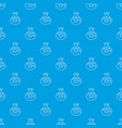chemical bug pattern seamless blue vector image vector image