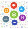 cinema icons vector image vector image