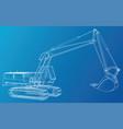 construction machine vehicle excavator eps10 vector image vector image