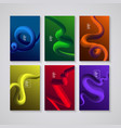 cover design liquid colorful shapes backgrounds vector image