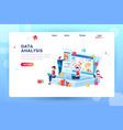 creative data analysis concept vector image
