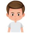 cute brunette boy face vector image vector image