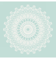 Delicate crochet lace ornament vector image vector image