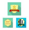 design of emblem and badge logo set of vector image vector image
