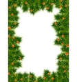 Detailed realistic christmas frame EPS 10 vector image