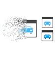 dissolved pixel halftone automobile car calendar vector image vector image