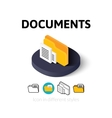 Documents icon in different style vector image vector image