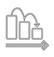 downward chart line icon vector image