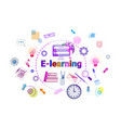 e-learning banner online education elearning vector image vector image