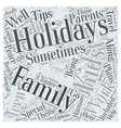family holidays Word Cloud Concept vector image vector image