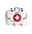first aid kit cute cartoon character vector image