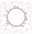 floral frame with background 04 vector image