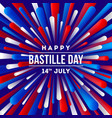 french national holiday - bastille day greeting vector image vector image