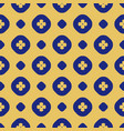 geometric seamless floral pattern with circles vector image
