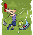 golf accident vector image