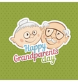 greetings on grandparents day vector image vector image