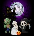 halloween costumes grim reaper with skull bride an vector image vector image