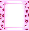 hibiscus syriacus - rose of sharon banner card vector image vector image