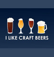 i like craft beers concept vector image
