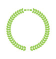 laurel wreath for your logo or symbol design flat vector image vector image