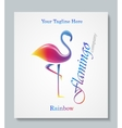 Luxury image logo Rainbow Flamingo Business vector image