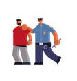 male police officer arrested criminal policeman vector image vector image