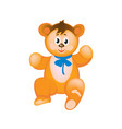 modern colorful children s toys cute funny teddy vector image