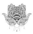 ornate hand drawn hamsa popular arabic and jewish