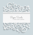 Paper swirls frame vector image vector image