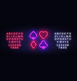 poker neon sign design template poker vector image vector image