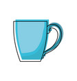 porcelain mug of coffee with handle colorful vector image vector image