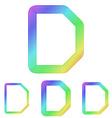 Rainbow line d logo design set vector image vector image