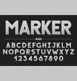 retro futuristic bold decorative font design vector image vector image