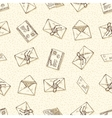 Seamless Pattern with Envelopes and Letters vector image vector image