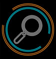 search icon - zoom symbol magnifying glass vector image