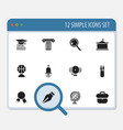 set of 12 editable education icons includes vector image vector image
